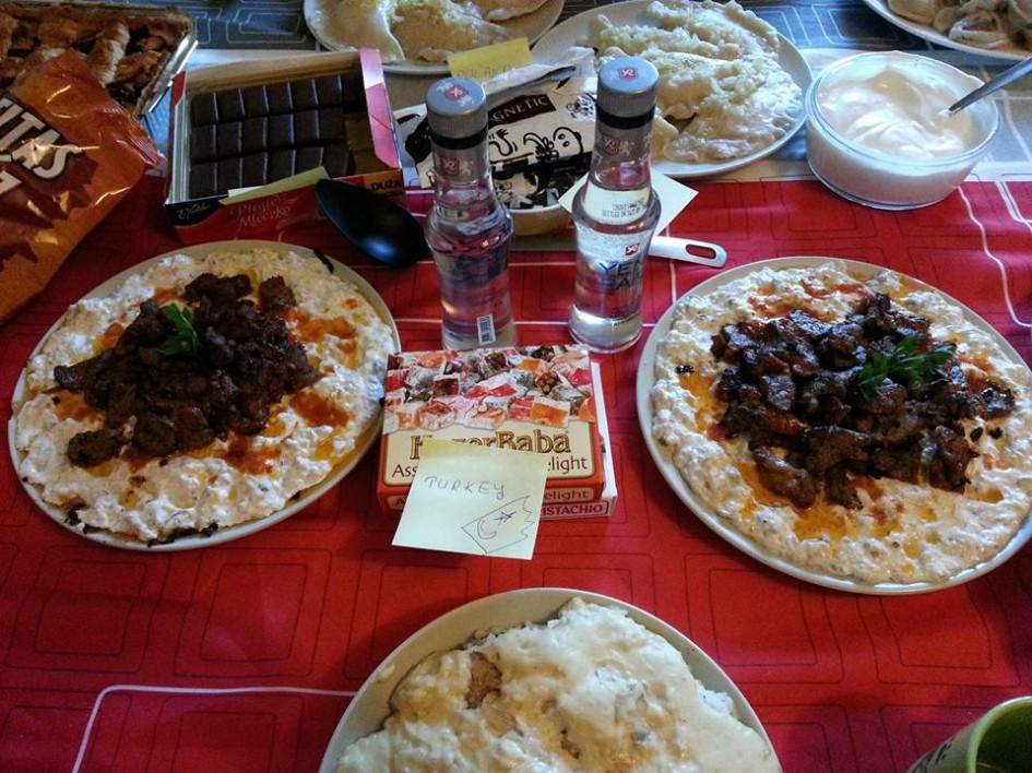 Barcelona'da National Food&Drink Party için hazırladığım Türkiye köşesiHünkar Beğendi, Lokum ve Rakı